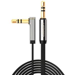 Ugreen 3.5mm Mâle à 3.5mm Mâle Elbow Connecteur Audio Câble d'Adaptateur Or-plaqué Port Voiture AUX Câble Audio, Longueur: 2m SU4812826-20
