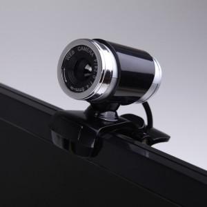 Webcam HXSJ A860 30 ips 12 mégapixels 480P HD pour ordinateur de bureau / ordinateur portable, avec microphone absorbant le son de 10 m, longueur: 1,4 m (noir) SH879B1528-20