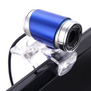 Webcam HXSJ A860 30 ips 12 mégapixels 480P HD pour ordinateur de bureau / ordinateur portable, avec microphone absorbant le son de 10 m, longueur: 1,4 m (bleu) SH879L1811-20