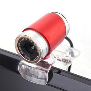 Webcam HXSJ A860 30 ips 12 mégapixels 480P HD pour ordinateur de bureau / ordinateur portable, avec microphone absorbant le son de 10 m, longueur: 1,4 m (rouge) SH879R182-20
