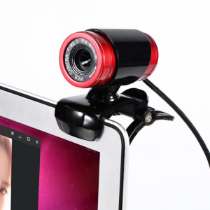 Webcam HXSJ A860 30fps 12 mégapixels 480P HD pour ordinateur de bureau / ordinateur portable, avec microphone insonorisant de 10 m, longueur: 1,4 m (rouge + noir) SH79RB740-20