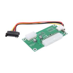 Adaptateur de carte de démarrage synchrone à double alimentation pour PC de bureau ATX 24 broches avec câble d'extension SATA et commutateur manuel pour Bitcoin Mining Expanded Ded SP547189-20