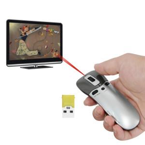 PR-05 2.4G sans fil 6D Gyroscope Fly Air Mouse Laser Pointeur Laser Pen Présentateur pour PC / Laptop Enseignement Conférence Discours SH657435-20