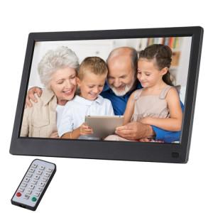Cadre photo numérique à DEL FHD de 11,6 pouces avec support et télécommande, programme MSTAR V56, entrée USB / carte SD compatible (noir) SH070B28-20