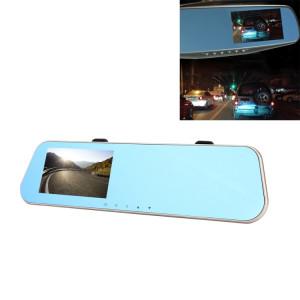 Affichage à l'écran gauche rétroviseur véhicule DVR, Allwinner programmes, 2 x caméras 1080p HD 140 degrés grand angle de visionnement, Support GPS Port / détection de mouvement / Vision nocturne / TF carte / SH51031066-20