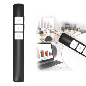 VIBOTON PP932 2.4GHz Multimédia Présentation Télécommande Stylo Flip Clicker PowerPoint, 3 Touches, Distance de Contrôle: 100m (Noir) SV821B1803-20