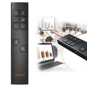 Présentation multimédia VIBOTON PP930 2.4GHz Télécommande PowerPoint Clicker Wireless Presenter Handheld Contrôleur Flip Pen, Distance de contrôle: 30m (Noir) SV822B1474-20