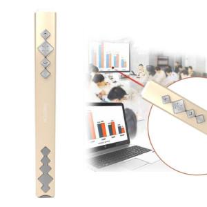 VIBOTON PP910 2.4GHz Présentation Multimédia Télécommande PowerPoint Clicker Clavier Flip avec récepteur USB, Distance de Contrôle: 10m (Or) SV824J1147-20