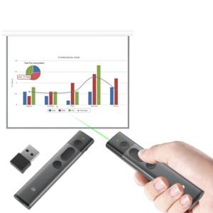 Doosl DSIT032 2.4GHz Wireless Presenter PowerPoint Représentation du clicker Télécommande Pointeur laser vert, distance de contrôle: 100m SD2221518-20