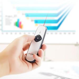 ASiNG A800 USB Charge 2.4GHz Wireless Presenter PowerPoint Clicker Représentation Pointeur de contrôle, Distance de contrôle: 100m (Blanc) SA082W498-20