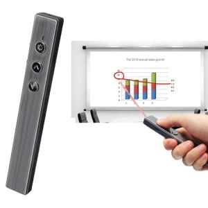 MC Saite PR-20 2,4 GHz Wireless Laser Presenter Présentateur PowerPoint Clicker Représentation Pointeur sans câble de charge USB, Distance de contrôle: 10 m (noir) SM043B1093-20
