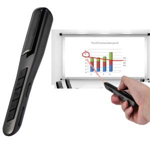 MC Saite PR-28 2.4GHz Fly Air Mouse Souris Présentateur Laser Rouge PowerPoint Clicker Représentation Pointeur de Télécommande sans câble de recharge USB, Distance de Contrôle: 10m (Noir) SM044B629-20