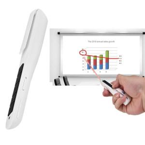 MC Saite PR-28 2.4GHz Wireless Air Fly Mouse Souris Laser Presenter PowerPoint Clicker Représentation Pointeur de contrôle à distance sans câble de recharge USB, Distance de contrôle: 10m (Blanc) SM044W1725-20