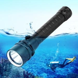 Lumière de torche de lampe-torche de plongée de profondeur de l'alliage d'aluminium PULUZ 1000LM 50m LED SPU264501-20