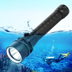 Lumière de torche de lampe-torche de plongée de profondeur de l'alliage d'aluminium PULUZ 3800LM 50m SPU2651116-20