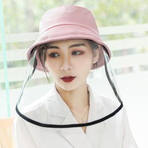 Anti-Saliva Splash Anti-Spitting Anti-Fog Anti-Oil Protective Cap Mask Mask Bouclier amovible (rose) SP464F22-20