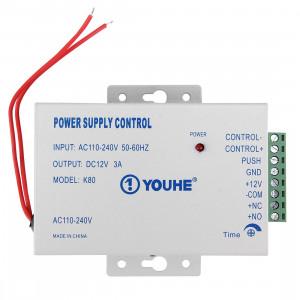 Alimentation d'énergie de contrôle d'entrée de porte pour les serrures électriques 0-30 secondes (YH-K81) (argent) SD0504379-20