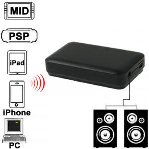 Mini récepteur de musique Bluetooth pour iPhone 4 & 4S / 3GS / 3G / iPad 3 / iPad 2 / Autres téléphones Bluetooth et PC, taille: 60 x 36 x 15 mm (noir) SH026B1258-20