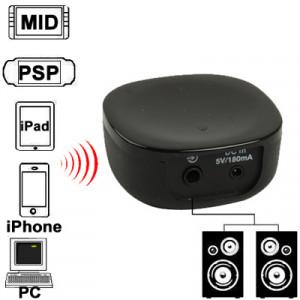 Mini récepteur de musique Bluetooth pour iPhone 4 et 4S / 3GS / 3G / iPad 3 / iPad 2 / autres téléphones Bluetooth et PC, taille: 46 x 46 x 20 mm (noir) SH-027743-20