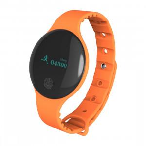 Bracelet intelligent Bluetooth 4.0 écran OLED de 0,66 pouce TLW08, support podomètre / rappel d'appel / suivi du sommeil / fonction tactile, compatible avec le système iOS et Android (Orange) SH168E1203-20
