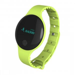 Bracelet intelligent Bluetooth 4.0 à écran OLED de 0,66 pouce TLW08, support podomètre / rappel d'appel / suivi du sommeil / fonction tactile, compatible avec le système iOS et Android (vert) SH168G53-20