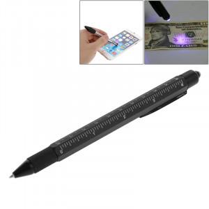 7 dans 1 règle en métal multifonctionnelle de tournevis de stylo de stylo de contact avec la fonction de détection de devise S72314271-20