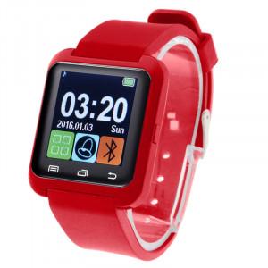 U80 Bluetooth Santé Smart Watch 1.5 pouces écran LCD pour téléphone portable Android, appel téléphonique de soutien / musique / podomètre / moniteur de sommeil / Anti-perdu (rouge) SH331R1675-20