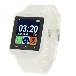 U80 Bluetooth Santé Smart Watch 1.5 pouces écran LCD pour téléphone portable Android, appel téléphonique de soutien / musique / podomètre / moniteur de sommeil / Anti-perdu (blanc) SH331W598-20