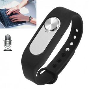 Montre-bracelet portable enregistreur vocal numérique 4GB, un bouton long enregistrement de temps (noir) SH760B1192-20