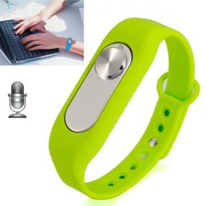 Montre-bracelet portative de l'enregistreur vocal numérique du bracelet 4GB, un long enregistrement de bouton (vert) SH760G761-20