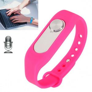 Montre-bracelet portable enregistreur vocal numérique 4 Go de Wristband, un enregistrement à long terme d'un bouton (Magenta) SH760M1186-20