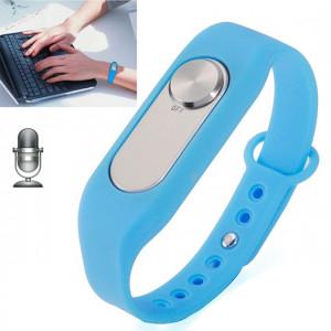 WR-06 Weatre Wristband 16GB Digital Voice Recorder Wrist Watch, un enregistrement à long terme de bouton (bleu) SH762L1002-20