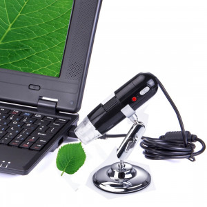 Microscope numérique USB 1.3x Mega pixels 200x avec 8 LED lumière blanche (Noir) SH40761361-20