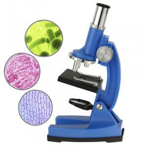Ensemble de microscope biologique numérique pour enfants 10X-45X (bleu) SH512L553-20