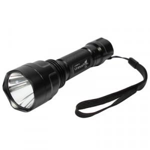 Lampe de poche portable en aluminium 1200LM, 5 modes, étanche, 1 LED CREE Q5 (noire) SH80601240-20