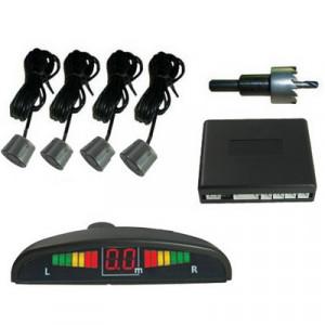 Avertisseur de marche arrière et capteurs LED de stationnement pour voiture 4 Capteur de sécurité (sonde radar à inversion du gris) SH01011045-20
