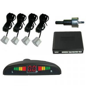 Avertisseur sonore d'inversion de voiture et capteurs à DEL 4 capteur de sécurité (sonde radar à inversion d'argent) SH101S1449-20