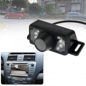 7 LED IR infrarouge vision nocturne étanche sans fil lentille courte vue arrière DVD avec plaque à l'échelle, support installé dans le navigateur de voiture DVD, angle de vision large: 140 degrés (WX002) (noir) SH0254785-20