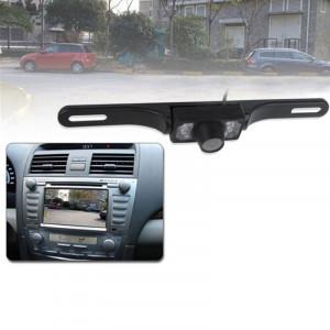 6 LED IR Infrarouge étanche Vision nocturne sans fil Cadre de plaque d'immatriculation Astern Backsight Caméra de recul, Support installé dans la voiture DVD Navigator ou Moniteur de voiture, Angle de vision large: SH0257525-20