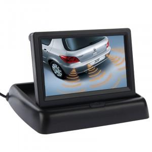 Moniteur d'affichage à cristaux liquides de rétrécissement de voiture de 4,3 pouces, entrée de 2 canaux AV (noir) SH03121677-20
