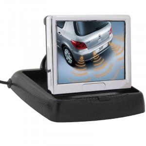 Moniteur LCD pliant de rétroviseur de voiture de 3,5 pouces, entrée AV de 2 canaux SH03131634-20