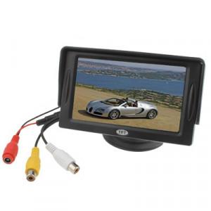 Moniteur de rétroviseur de voiture LCD TFT de 4,3 pouces avec support et pare-soleil (noir) SH03271991-20