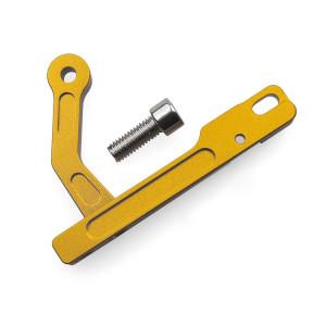 Support de dispositif mobile CNC en fer métallique pour émetteur DJI Phantom 3 ou Inspire 1 (jaune) SH582Y849-20