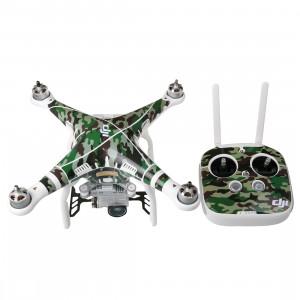 Kit Camouflage 4D Imitation Carbone Fibre PVC Autocollant Résistance Kit Pour DJI Phantom 3 Quadcopter & Télécommande & Batterie SH250C314-20