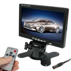Moniteur de voiture / caméras de surveillance de 7,0 pouces avec support d'angle réglable et télécommande, double entrée vidéo SH01041466-20