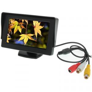 Moniteur couleur de voiture 4,3 pouces avec support d'angle réglable et pare-soleil universel, entrée vidéo double SH01051284-20