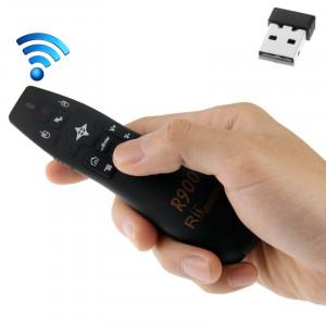 2.4G Wireless Presenter Pointeur Laser Fly Souris Rii Professionnel Air Mouse R900 pour HTPC / Android TV BOÎTE / PS3 / XBOX360 / Tablet PC (K14 R900) (Noir) S220561810-20