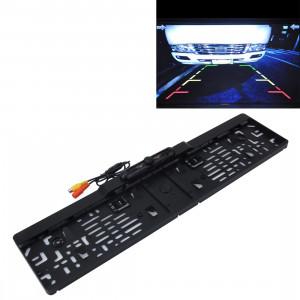 Caméra de recul de cadre de plaque d'immatriculation de voiture européenne, taille: 52,8 cm x 12,6 cm (noir) SH00281380-20