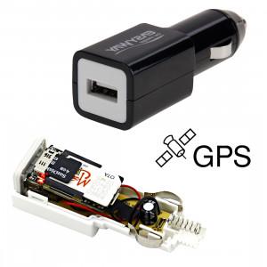 EASYWAY Quick-charge USB Port Car Locator voiture Chargeur GPRS Tracker pour iPhone / iPad série, PSP, MP3 / MP4, PDA de poche PC (Noir) SE598B1742-20