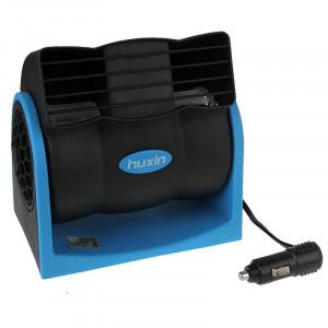 HX-T301 DC 12V 7W 2-Vitesse Ventilateur Silencieux Réglable Ventilateur De Voiture Ventilateur (Noir + Bleu) SH445L1822-20